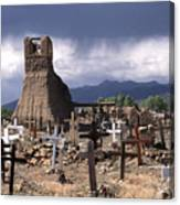 Storm Over Taos Graveyard Canvas Print