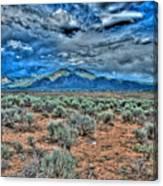 Storm Over Taos Mountain Canvas Print