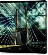 Storm Over The Bridge  Canvas Print