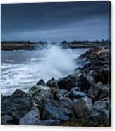 Storm Over The Jetty 1 Canvas Print