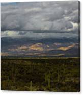 Storm Over The Mountains Of Arizona Canvas Print
