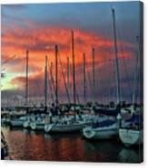 Storm Over The Newport Harbor Canvas Print