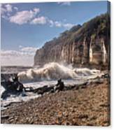 Storm Tide Cliffs End Canvas Print