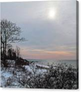 Storm Trilogy-one Harkness Memorial State Park Canvas Print