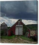 Storm Upon Maple Grove Farm Canvas Print