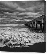 Storm Waves Breaking On The Shore Canvas Print