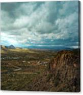 Storms And Cliffs Canvas Print