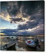 Storms At Dusk In La Caleta Cadiz Spain Canvas Print