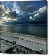Storms Over The Gulf Of Mexico Canvas Print