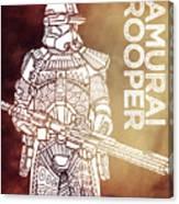 Stormtrooper - Star Wars Art - Brown Canvas Print