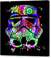 Stormtrooper Mask Rainbow 6 Canvas Print