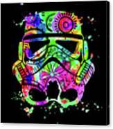 Stormtrooper Mask Rainbow 8 Canvas Print