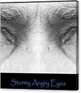 Stormy Angry Eyes Poster Print Canvas Print