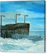 Stormy At Morro Bay Canvas Print