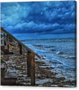 Stormy Backyard  Canvas Print