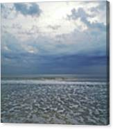 Stormy Beach Beauty Canvas Print