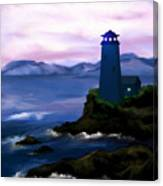 Stormy Blue Night Canvas Print