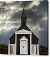 Stormy Day At The Black Church Canvas Print