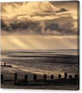 Stormy English Coastal Seascape Canvas Print