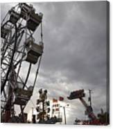 Stormy Ferris Wheel Canvas Print