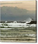 Stormy Fishing Canvas Print