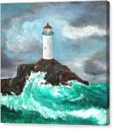 Stormy Ligthouse Canvas Print