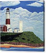 Stormy Montauk Point Lighthouse Canvas Print