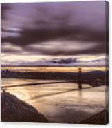 Stormy Morning Sf Bay Bridge Canvas Print