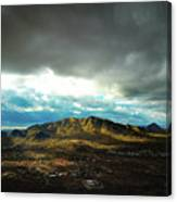 Stormy Mountains In Sunlight Canvas Print