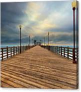 Stormy Oceanside Sunset Canvas Print