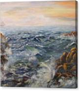Stormy Pacific Canvas Print