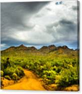 Stormy Road Home Canvas Print