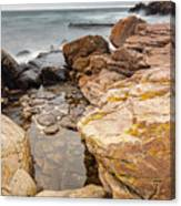Stormy Rock Beach Canvas Print