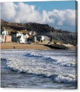 Stormy Seafront - Lyme Regis Canvas Print