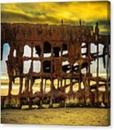Stormy Shipwreck Canvas Print