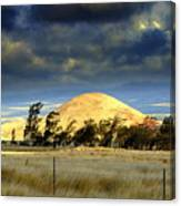 Stormy Skies Over Sunset Cinder Cone Canvas Print