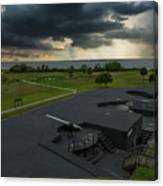 Stormy Sky Over Fort Moultrie Canvas Print