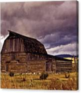 Stormy Sunset At Moulton Barn Canvas Print