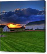 Stormy Sunset In The Country Canvas Print