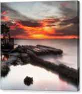 Stormy Twilight Afterglow Canvas Print