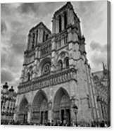 Stormy Views Of Notre-dame Canvas Print