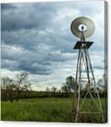 Stormy Windy Windmill Canvas Print