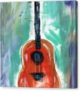 Storyteller's Guitar Canvas Print