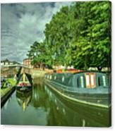Stourport Narrowboats  Canvas Print