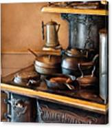 Stove - Breakfast At My Great Grandmothers Canvas Print