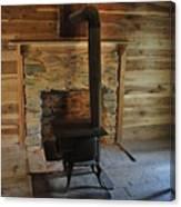 Stove In A Cabin Canvas Print