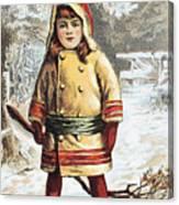 Stove Trade Card, C1890 Canvas Print