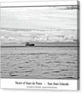 Strait Of Juan De Fuca Canvas Print