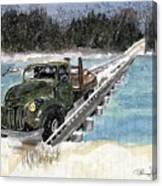 Stranded On Rockford Bridge Canvas Print
