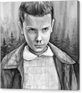 Stranger Things Fan Art Eleven Canvas Print